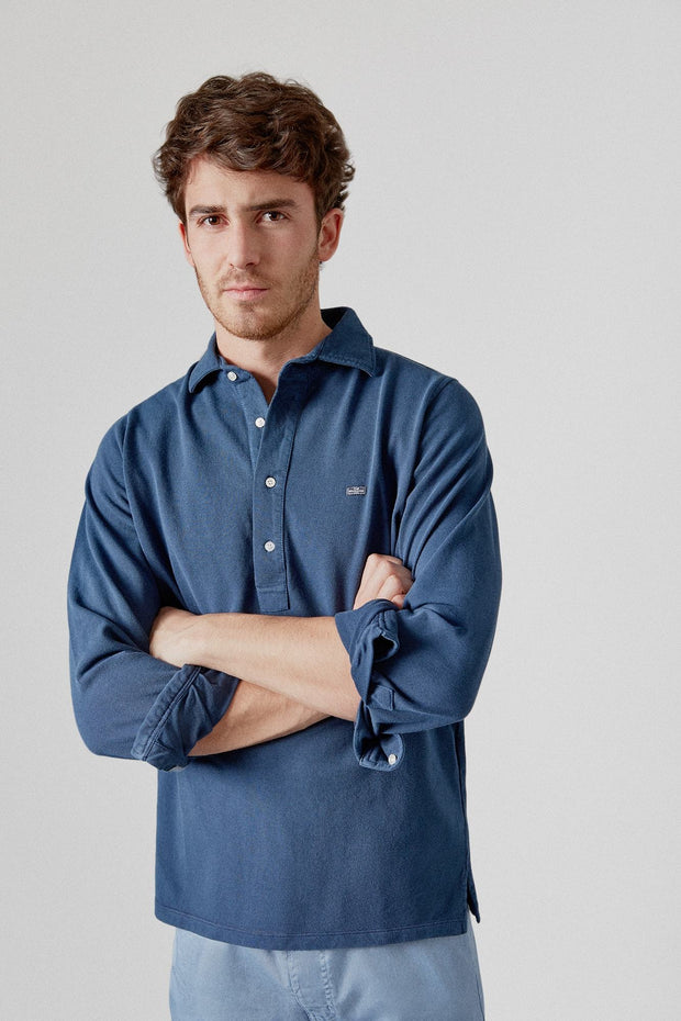 The Cotton Polera Azul Luarca