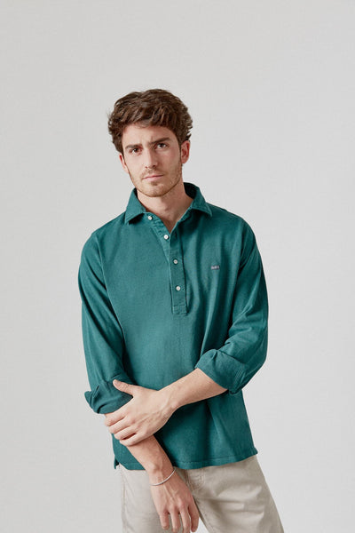 The Cotton Polera Verde Cazorla