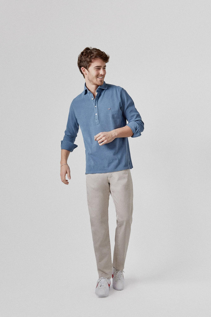 The Cotton Polera Azul Fornells