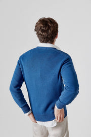 The Cotton Sweater Pico azul Sanabria