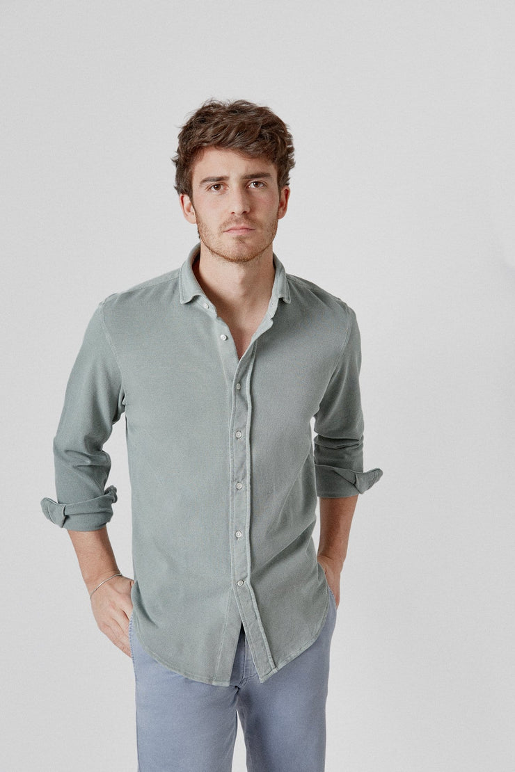 The Cotton Camisa Verde Kakhi