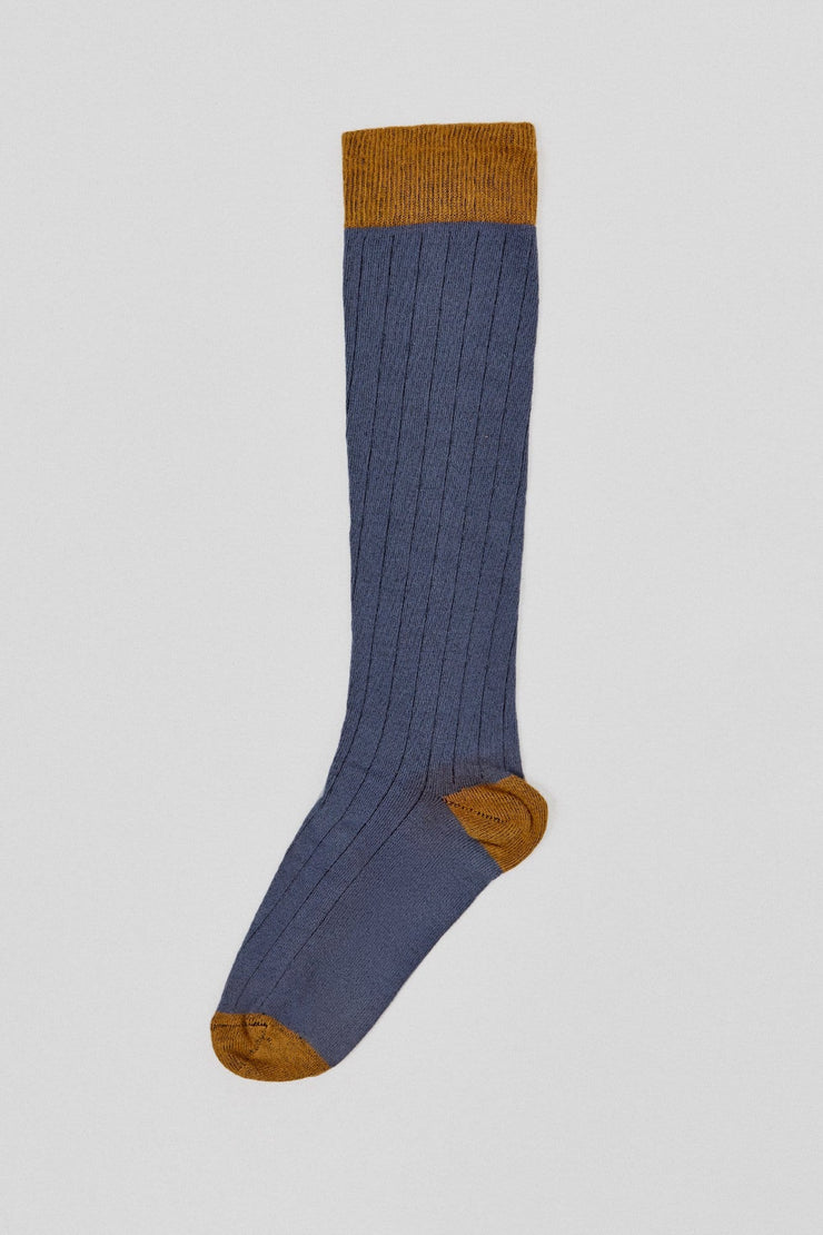 The Sock Azul y Mostaza Long