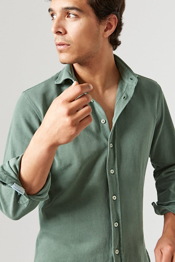 The Cotton Camisa Verde Teide