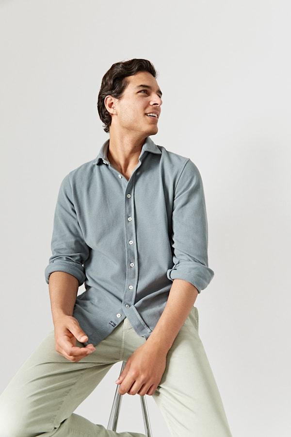 The Cotton Camisa Gris Vitoria