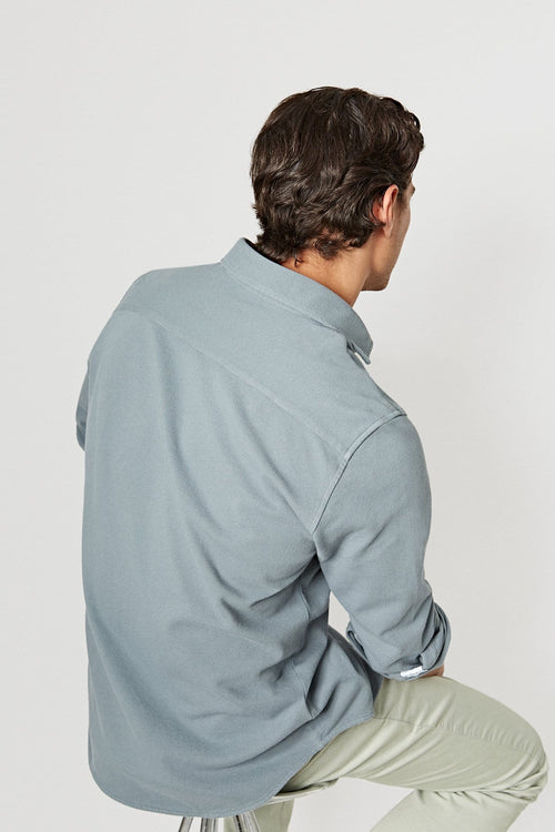 The Cotton Camisa Piqué Gris Vitoria