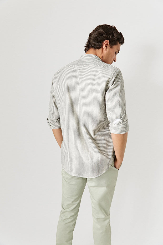The Cotton Polera Mao Raya Gris