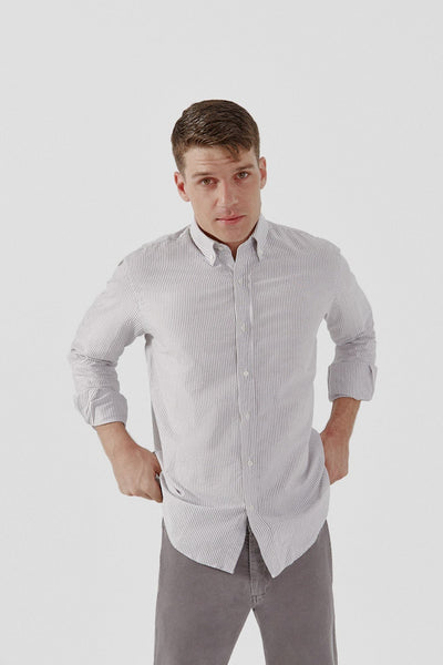 The Oxford Raya Gris Classic Regular fit