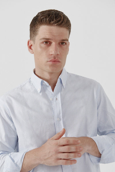 The Oxford Raya Celeste Classic Regular fit