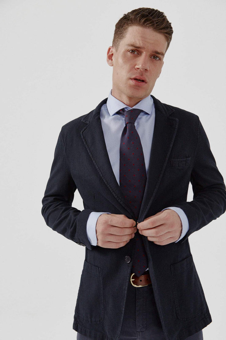 The Oxford azul non iron slim fit