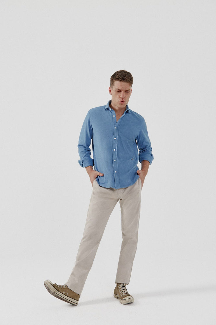 The Cotton Camisa Azul Tabarca