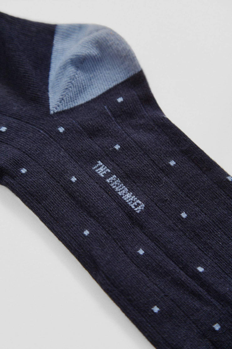 The Sock Polka dot celeste Long