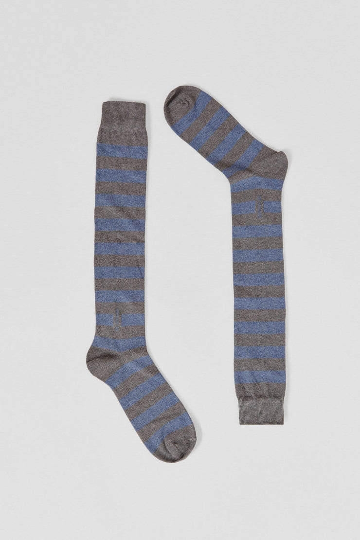 The Sock rayas celeste y gris Long