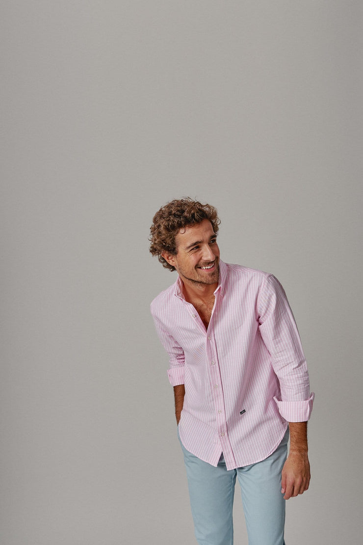 The Oxford spring raya rosa slim fit