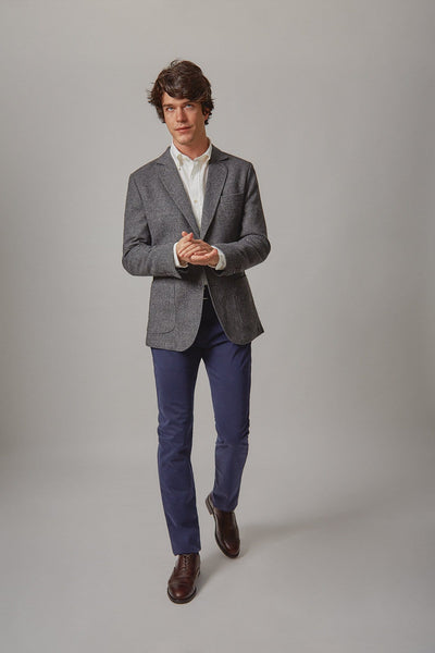 The wool Blazer espiga gris