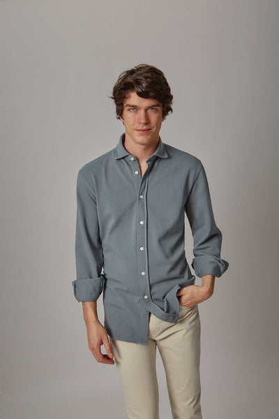 The cotton camisa gris Villela