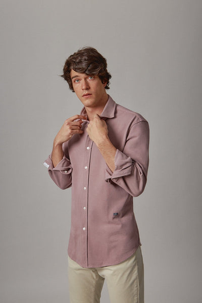 The cotton camisa rosa Valladolid