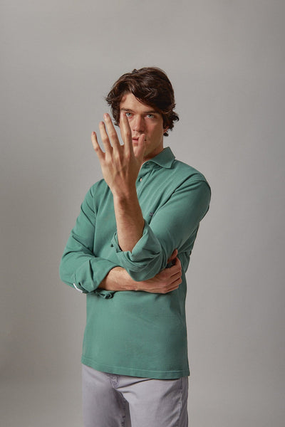 The cotton polera verde Ons