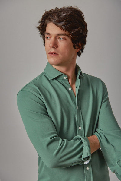 The cotton camisa verde Ons