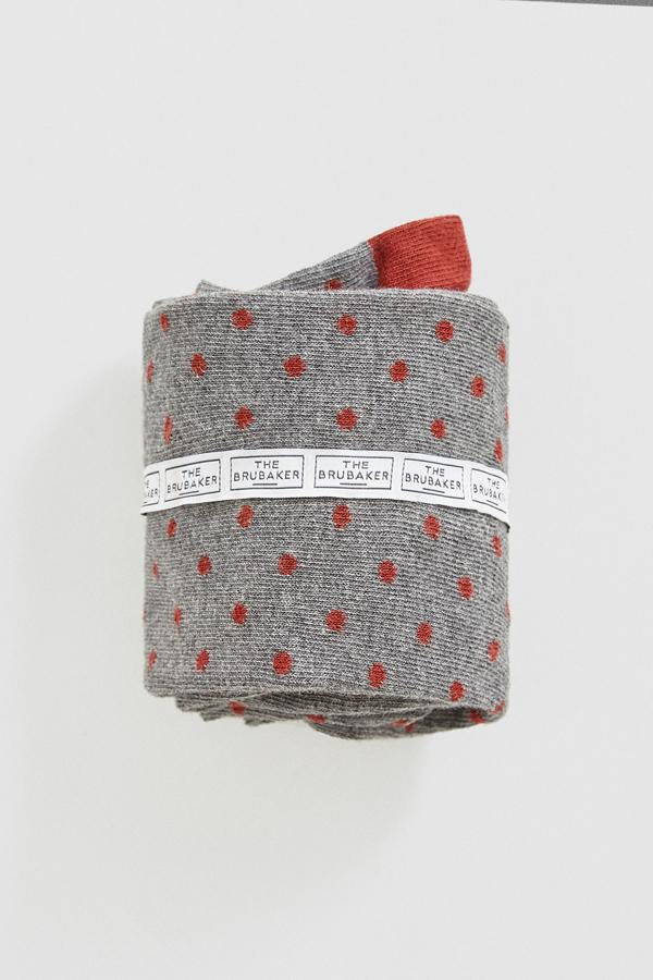 The Sock Polka Dot Gris