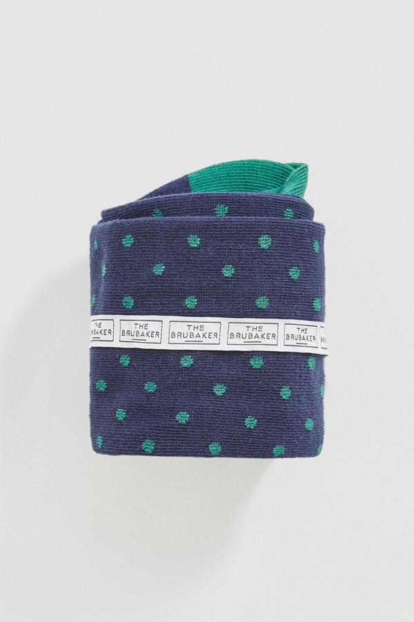 The Sock Polka Dot Azul Long