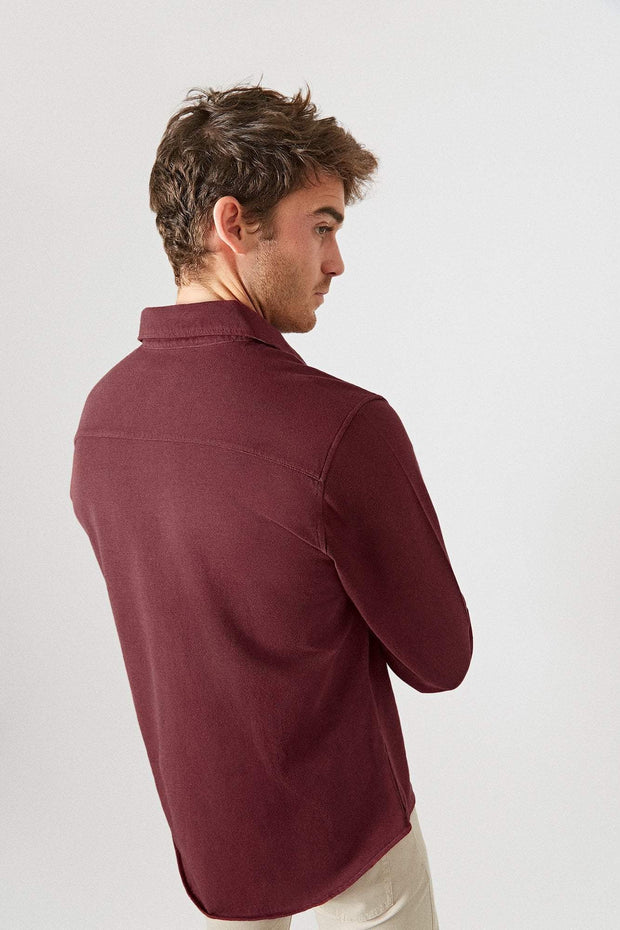 The Cotton Camisa Merlot