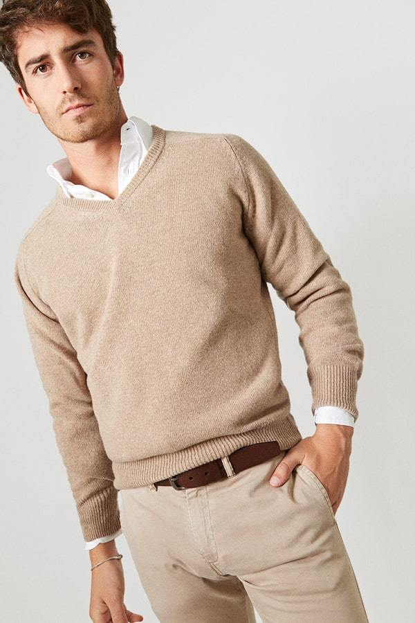 The Lambswool pico Camel