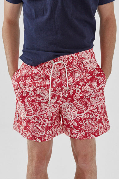 The Swim Paisley rojo