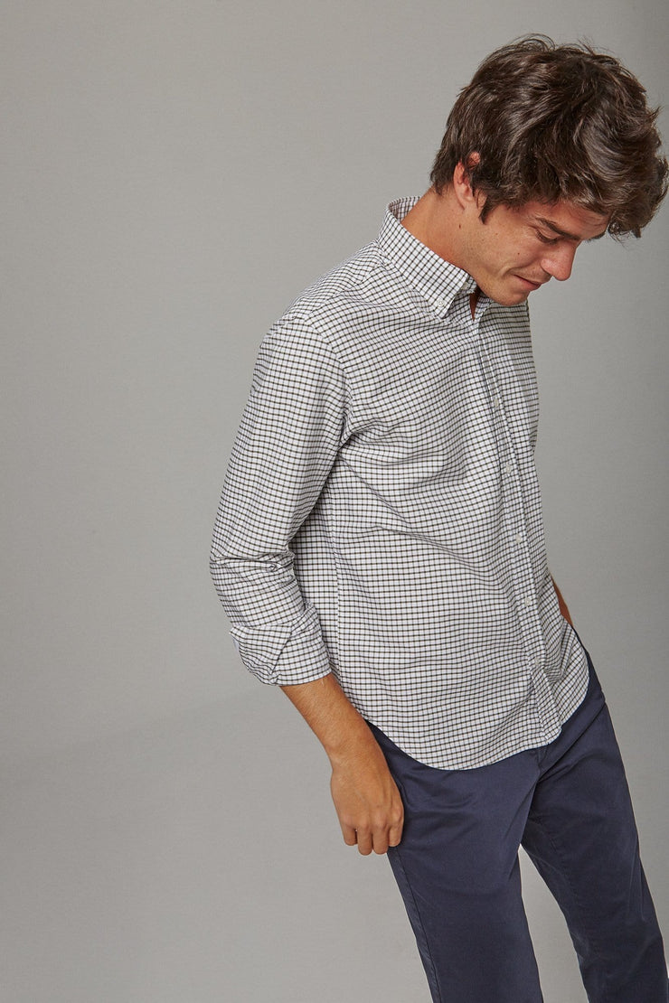 The Oxford Cuadro Verde Slim fit