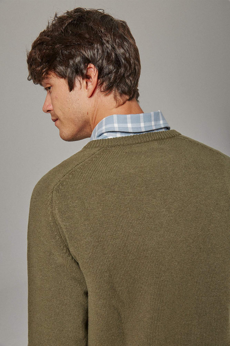 The Lambswool pico Verde Oliva