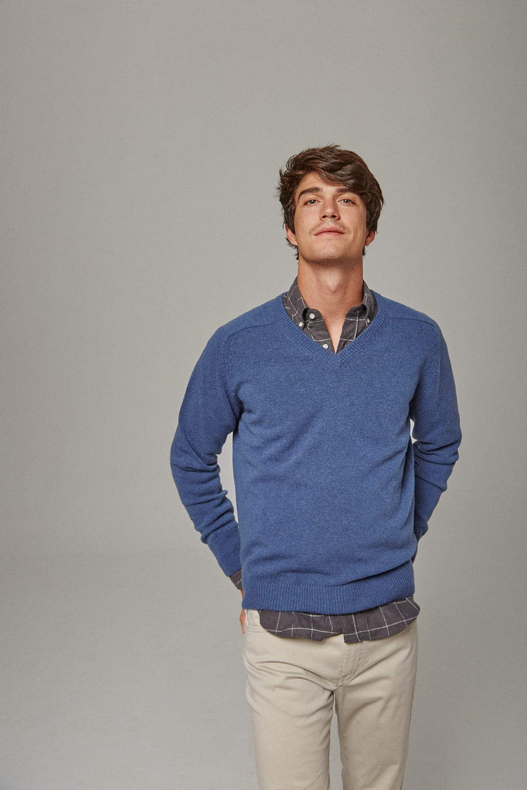 The lambswool pico azul Tossa