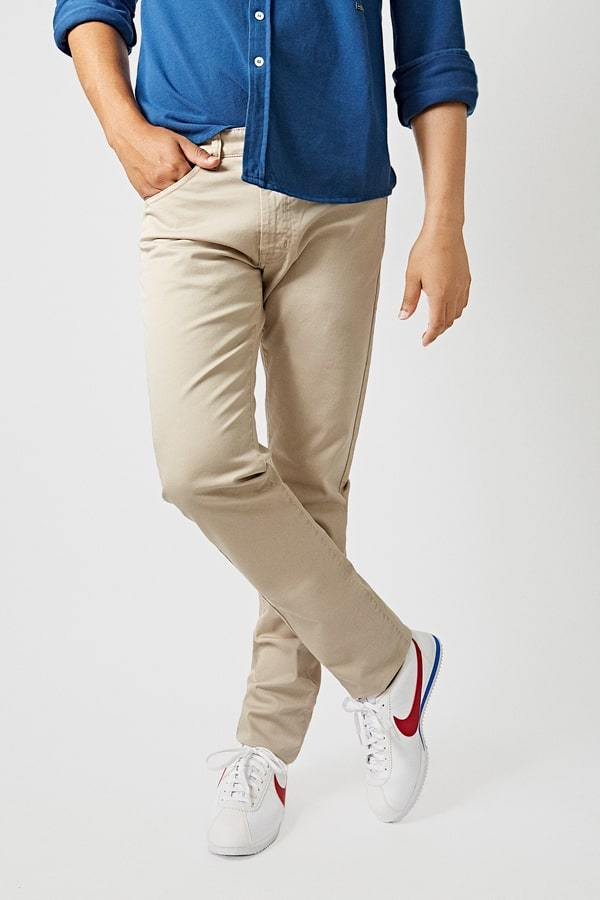 The 5 Pocket Beige Regular Fit