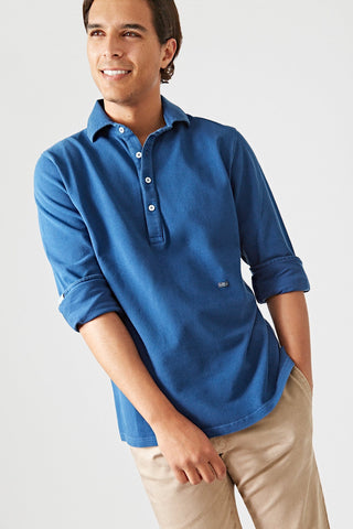 The Cotton Polera Azul Sanabria