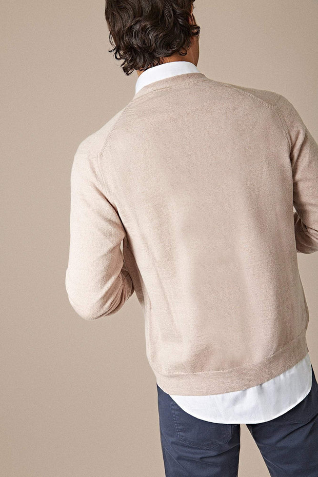 The Merino cardigan Beige