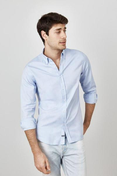 The Oxford azul Non Iron Classic Regular fit