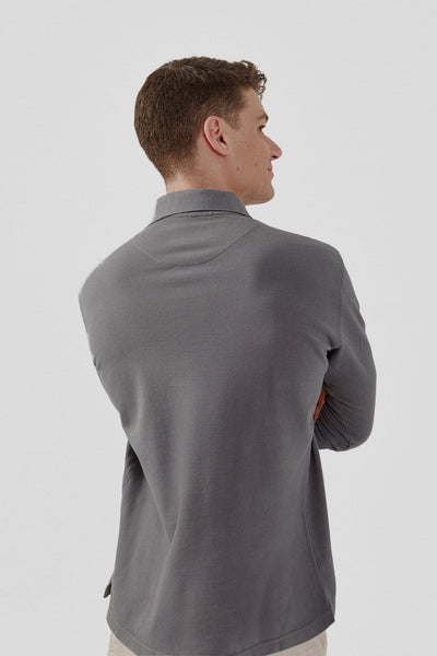 The Cotton Polo ML gris Puigmal
