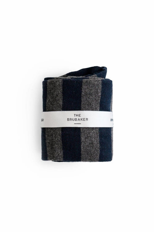 The Sock Rayas Azul y Gris Long