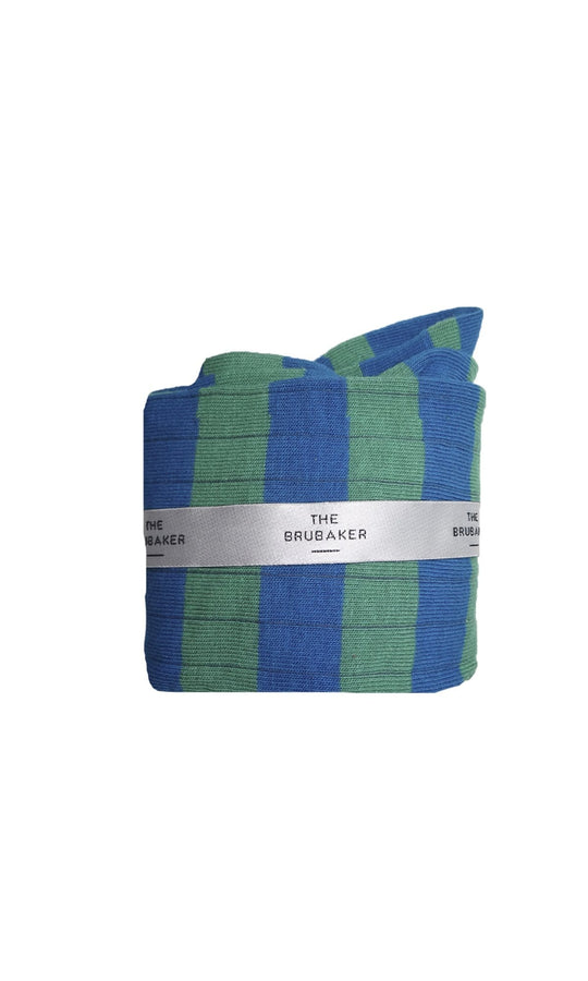 The Sock Raya Azul y Verde Long
