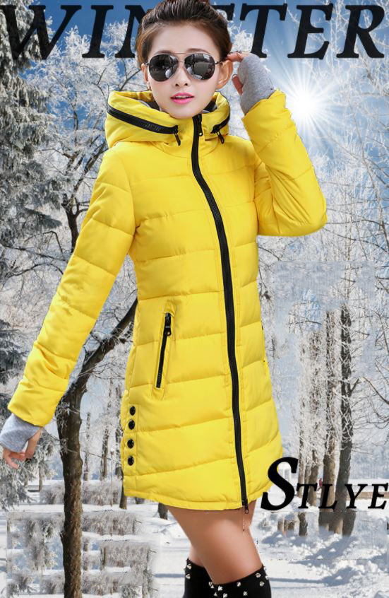 Slim Down Warm Hodded Parka