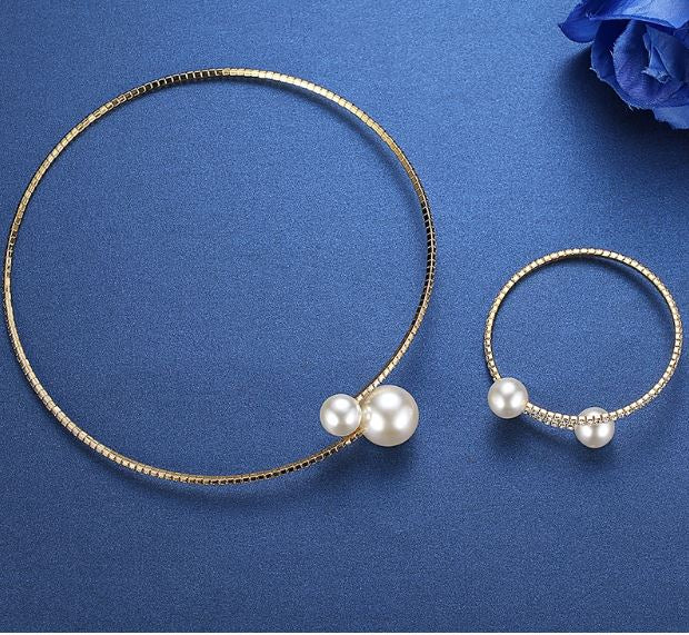 Pearl Bridal Jewelry Necklace Sets