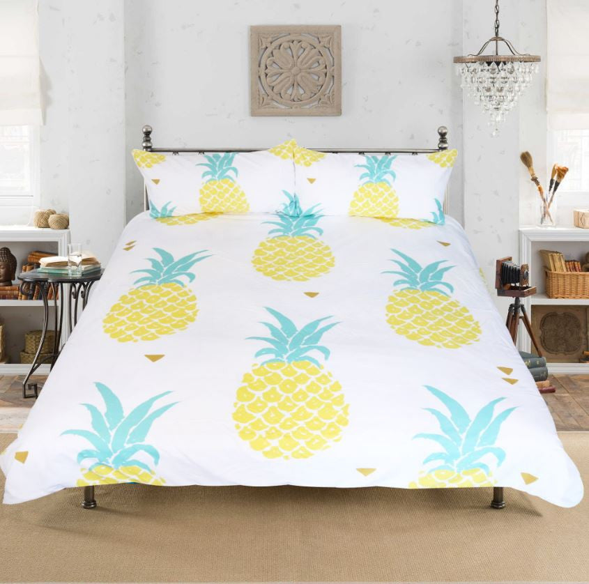 Duvet Cover Pineapple Bedding Set