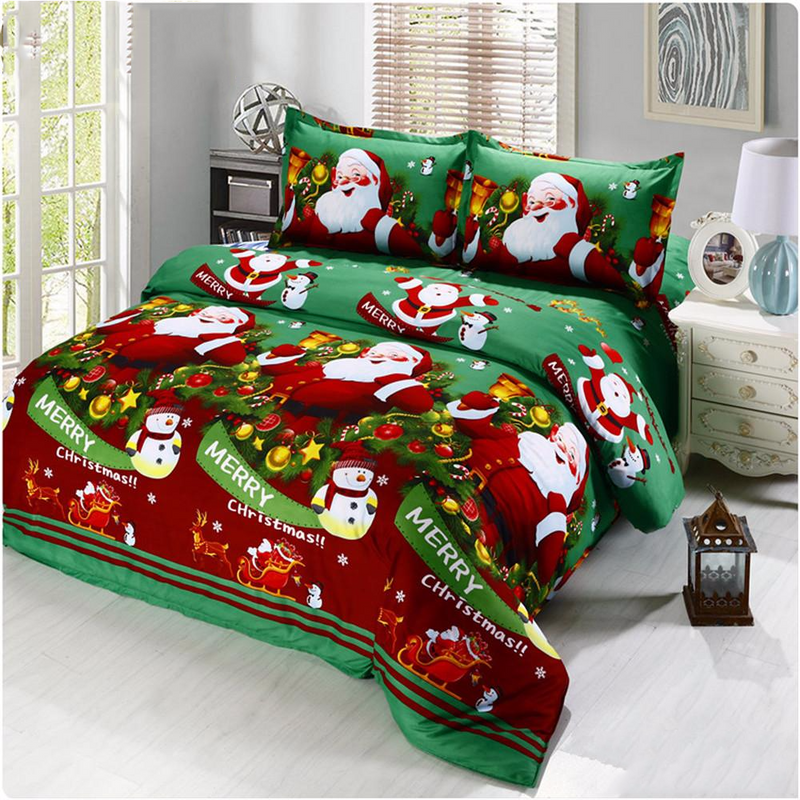 Santa Claus Christmas Gift Bedding Set