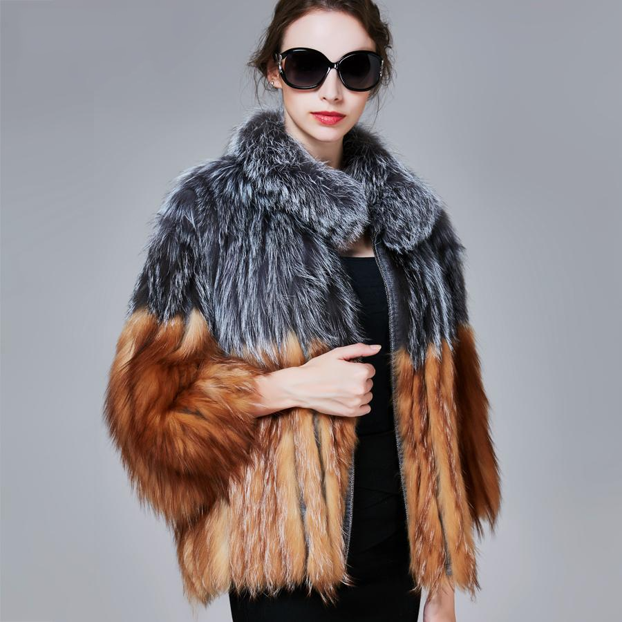 Women Slim Fox Fur Coat