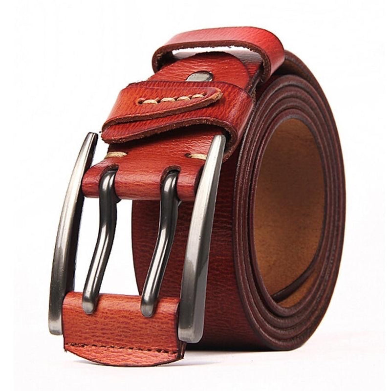 Jets Buckle Genuine Leather Belt