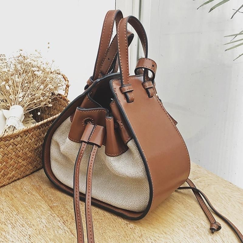 Tassel Bucket Handbag Shoulder Bag