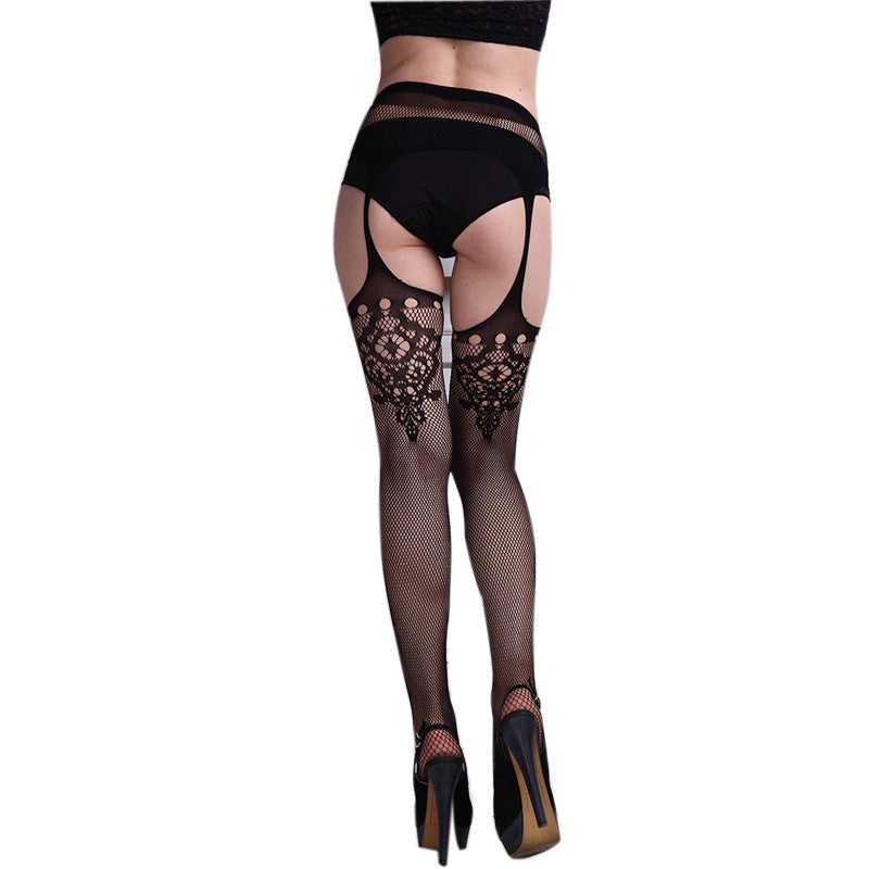 Net Lace Stockings Embroidery Pantyhose