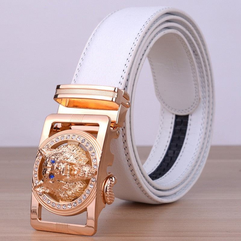 Men Leather Belts Automatic Belt Girdle