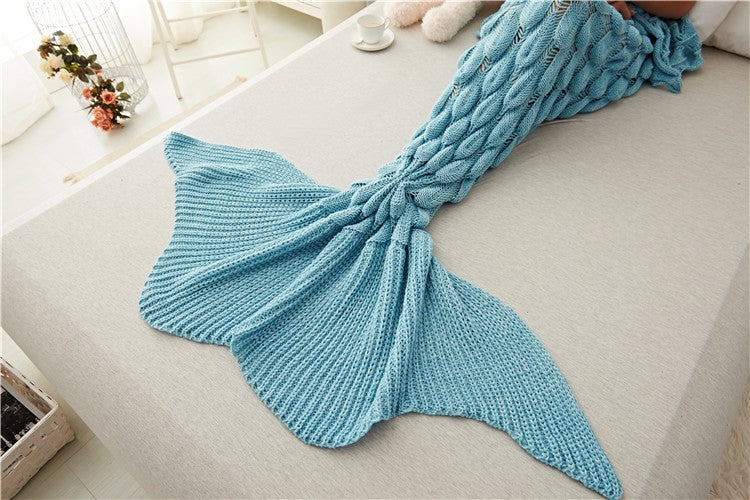Handmade Mermaid Tail Blanket Kids Adult