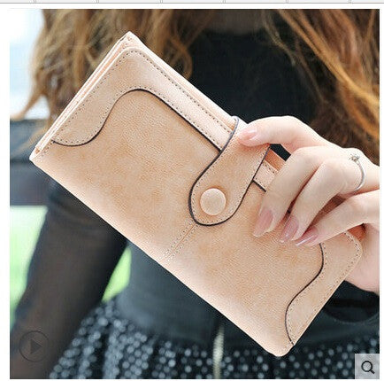 Matte Stitching Wallet Women's Long Purse
