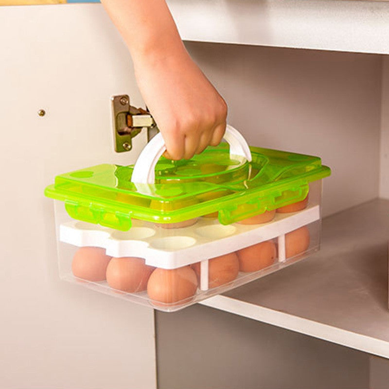 24 Grid Egg Box Food Container Organizer Boxes