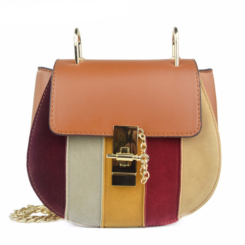 Small Patchwork Saddle Crossbody Bag